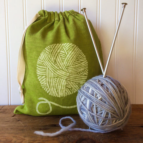 Yarn Drawstring Bag