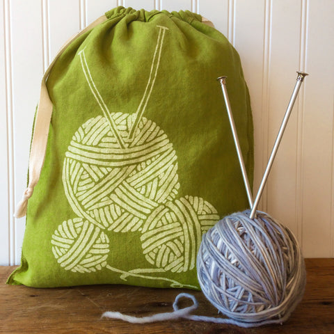 Yarn Drawstring Bag - Large
