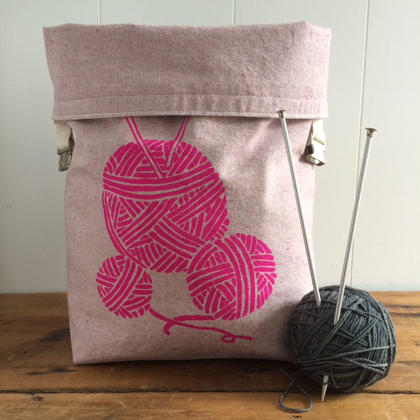 Large Yarn Trundle Bag