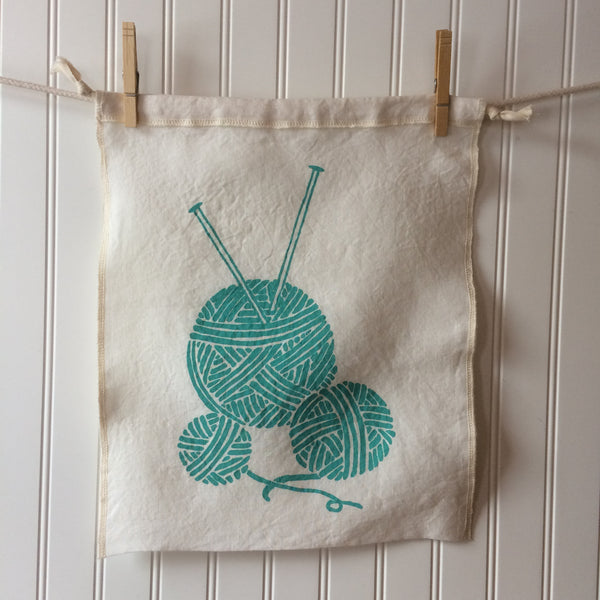 Yarn Balls Drawstring Bag - Large