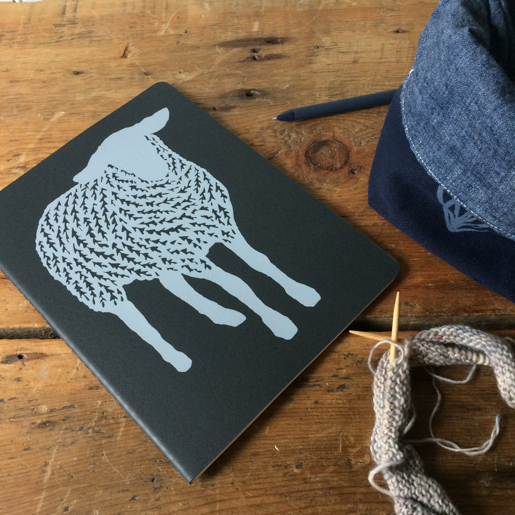 Hand Printed Moleskine Sketchbook