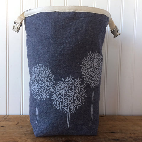 Blue Allium Trundle Bag
