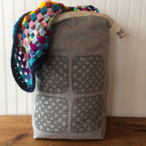 Large Granny Square Trundle Bag