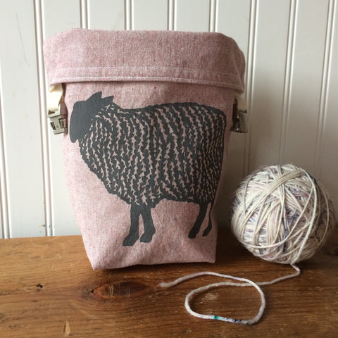 Sheep Mini Trundle Bag- Pink
