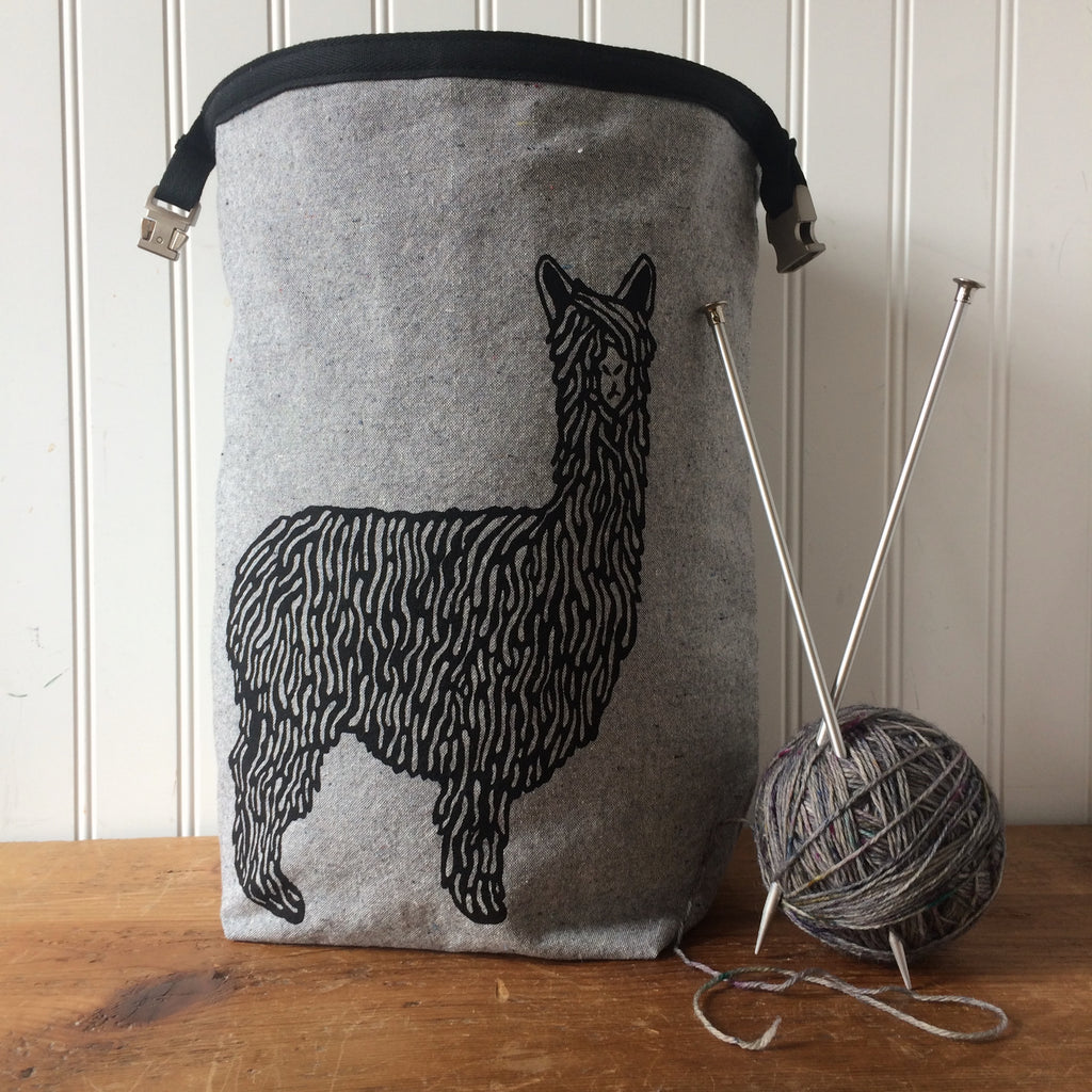 Black Alpaca Trundle Bag