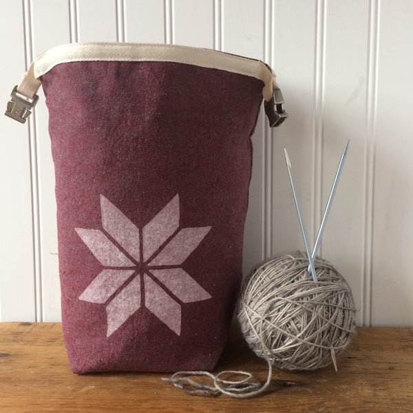 Star Mini Trundle Bag- Burgundy