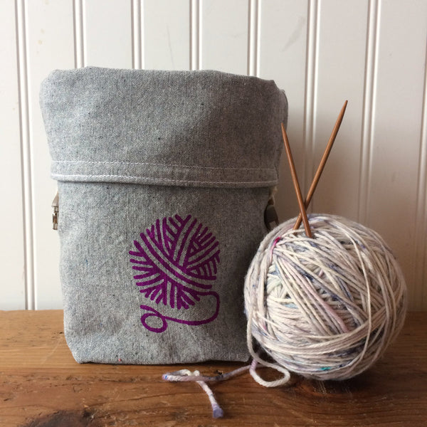 Yarn Ball Mini Trundle Bag- Purple