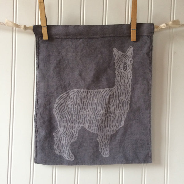 Alpaca Drawstring Bag - Medium