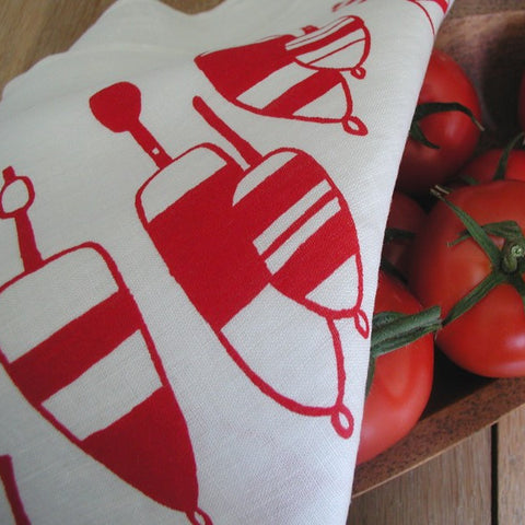 Lobster Buoy Tea Towel