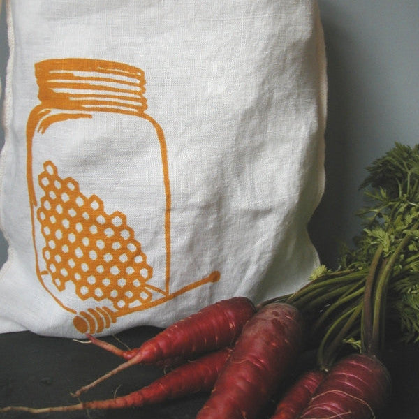 Honey Jar Drawstring Bag- Medium