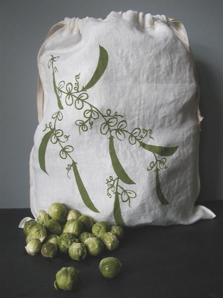 Pea Drawstring Bag - Large