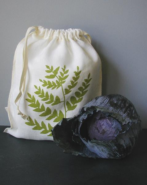 Fern Drawstring Bag- Medium