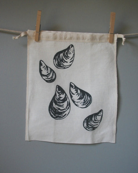 Mussel Drawstring Bag- Medium