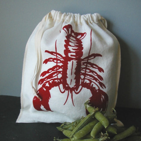 Lobster Drawstring Bag- Medium