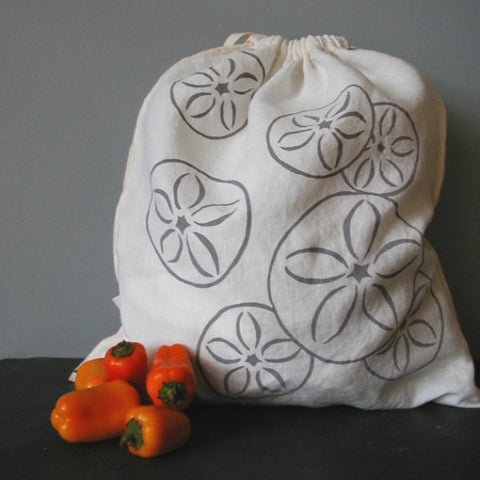 Sand Dollar Drawstring Bag - Large