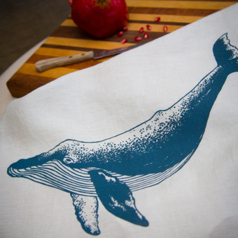 Whale Tea Towel