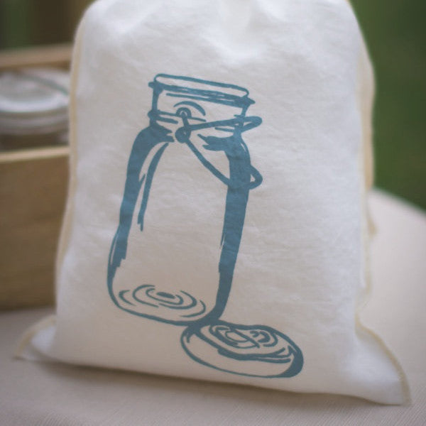 Mason Jar Drawstring Bag - Medium