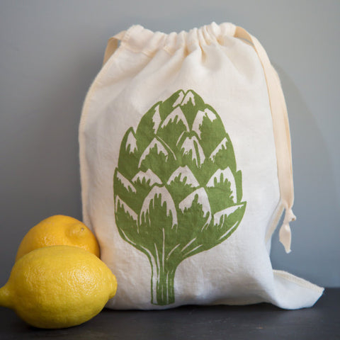 Artichoke Drawstring Bag- Medium
