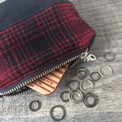 Bits and bobbles purse-black wax and wool edition