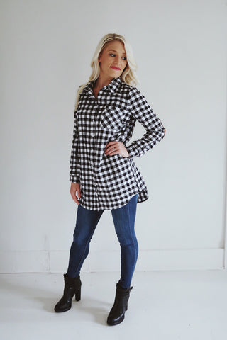 Tyler Plaid Tunic