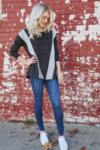Lincoln Color Block Top