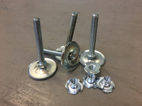 Adjustable feet bolts