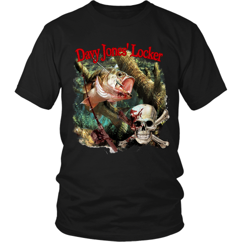 Davy Jones' Locker Fishing T-Shirt -  District Unisex Shirt / Black / S - 1