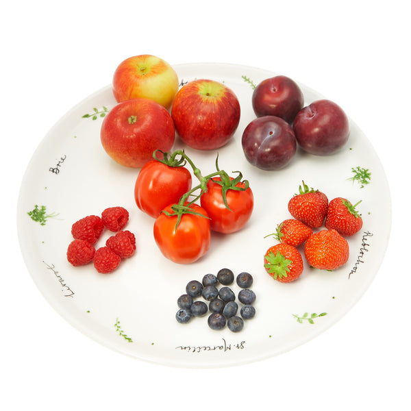 An assortment of fruits on a plate