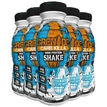 Grenade Carb Killa RTD Shake 8 x 330ml Bottles / Chocolate Mint Protein  www.nutri4u.co.uk - 1