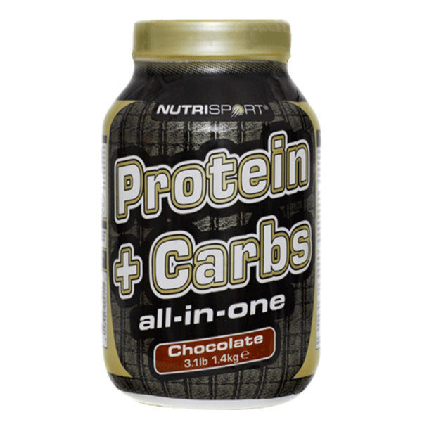 Nutrisport Protein+Carbs 1.4kg (14 Servings) / Banana All-In-One  www.nutri4u.co.uk - 1