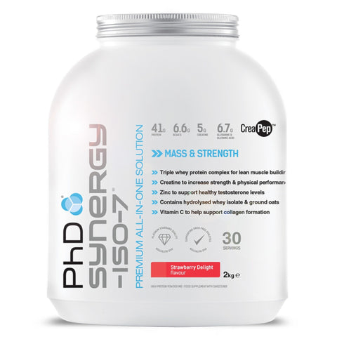 PhD Nutrition Synergy-ISO-7 (New Formula) 2kg / Banana All-In-One  www.nutri4u.co.uk
