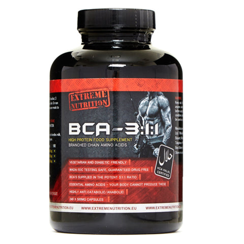 Extreme Nutrition Extreme BCA-311 240 Caps Amino Acids/BCAAs  www.nutri4u.co.uk