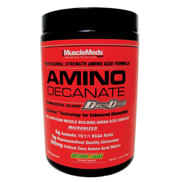 MuscleMeds Amino Decanate 360g (30 Servings) / Citrus Lime Amino Acids/BCAAs  www.nutri4u.co.uk
