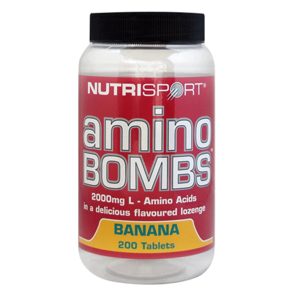 Nutrisport Amino Bombs 200 Tablets (50 Servings) / Banana Amino Acids/BCAAs  www.nutri4u.co.uk