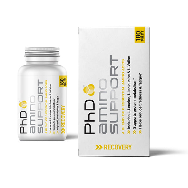 PhD Nutrition Amino Support 180 Tabs (60 Servings) Amino Acids/BCAAs  www.nutri4u.co.uk