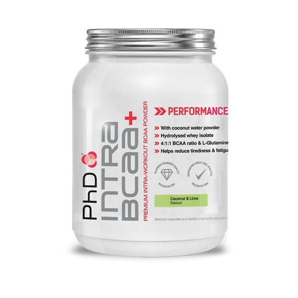 PhD Nutrition BCAA Intra+ 450g (30 Servings) / Coconut & Lime Amino Acids/BCAAs  www.nutri4u.co.uk