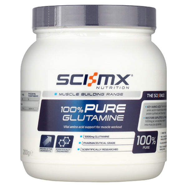 Sci-MX Nutrition 100% Pure Glutamine 200g Amino Acids/BCAAs  www.nutri4u.co.uk - 1