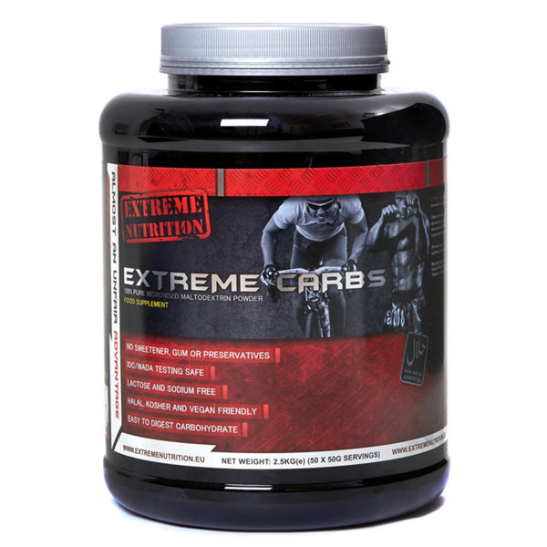 Extreme Nutrition Extreme Carbs 2.5kg (50 Servings) Carbohydrate  www.nutri4u.co.uk