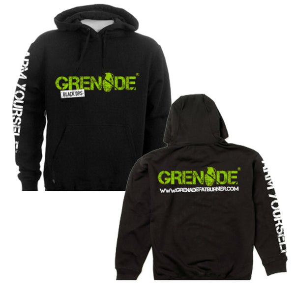 Grenade Black Ops Hooded Top Small / Black Clothing  www.nutri4u.co.uk - 1