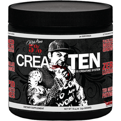 Rich Piana 5% Nutrition Crea-TEN (30 Servings) 231g (30 Servings) / Blue Raspberry Creatine  www.nutri4u.co.uk