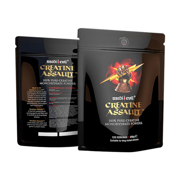 Medi Evil Creatine Assault 600g (120 Servings) Creatine  www.nutri4u.co.uk