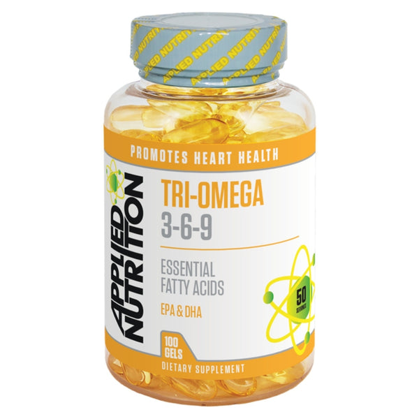 Applied Nutrition Tri-Omega 3-6-9 (100 Softgels) 100 Gels EFA  www.nutri4u.co.uk