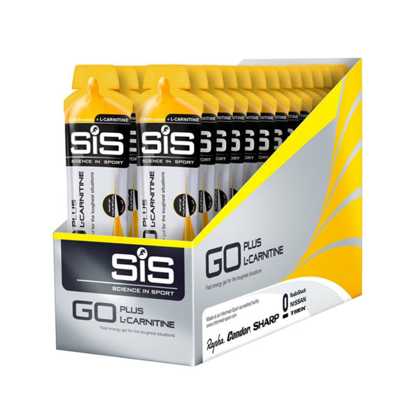 Science In Sport GO + L-Carnitine Gel Multipack 30 x 60ml / Lemon Energy Gel  www.nutri4u.co.uk - 1