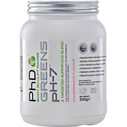 PhD Nutrition Greens pH-7 330g (30 Servings) / Pomegranate Health Foods  www.nutri4u.co.uk