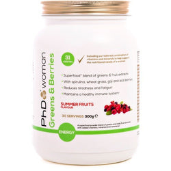 PhD Woman Greens and Berries 300g / Summer Fruits Health Foods  www.nutri4u.co.uk