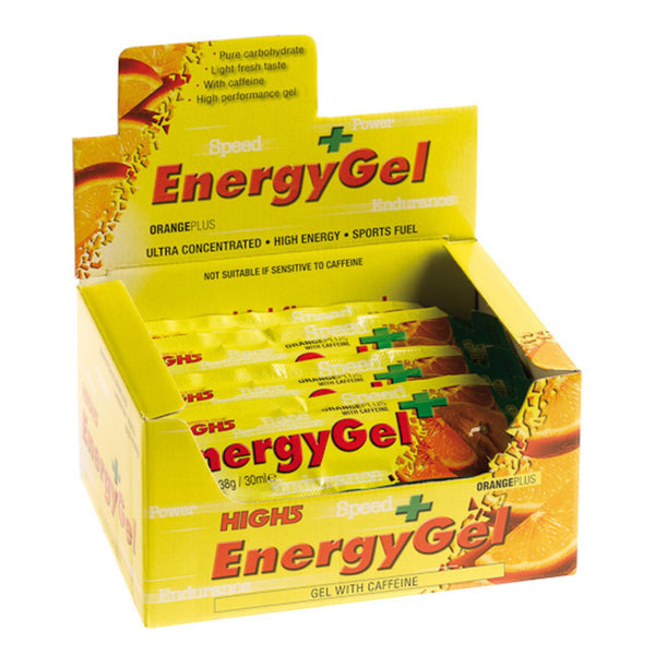 High5 EnergyGel Plus 20 x 40g Sachets / Orange Plus Intra Workout  www.nutri4u.co.uk - 1