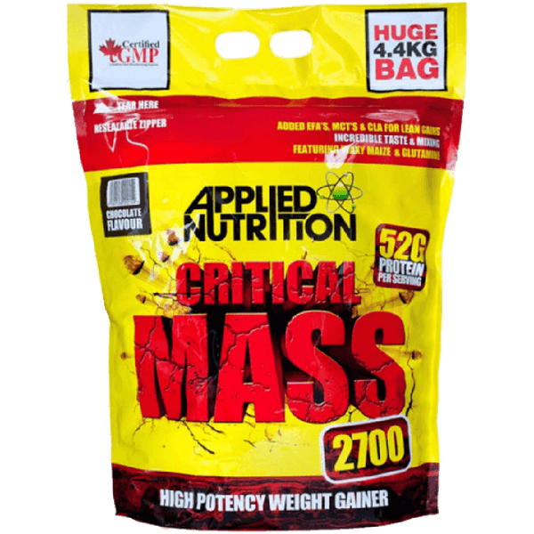 Applied Nutrition Critical Mass 4.5kg / Chocolate Mass Gainers  www.nutri4u.co.uk - 1