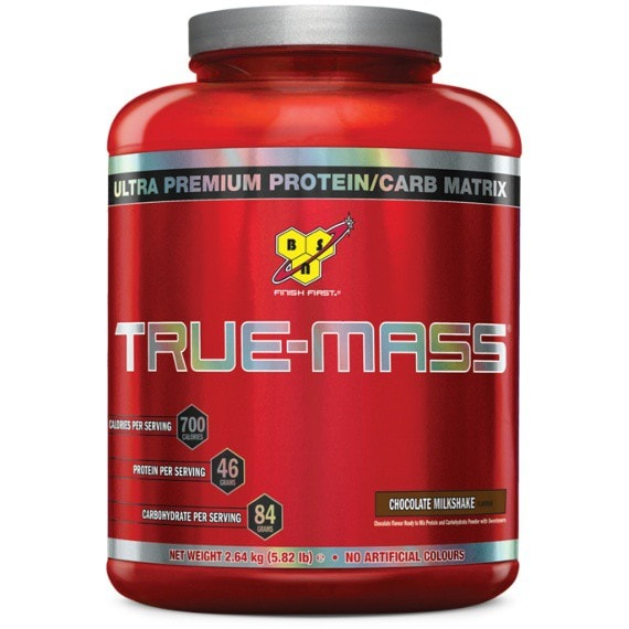 BSN True-Mass 2.6kg / Chocolate Milkshake Mass Gainers  www.nutri4u.co.uk