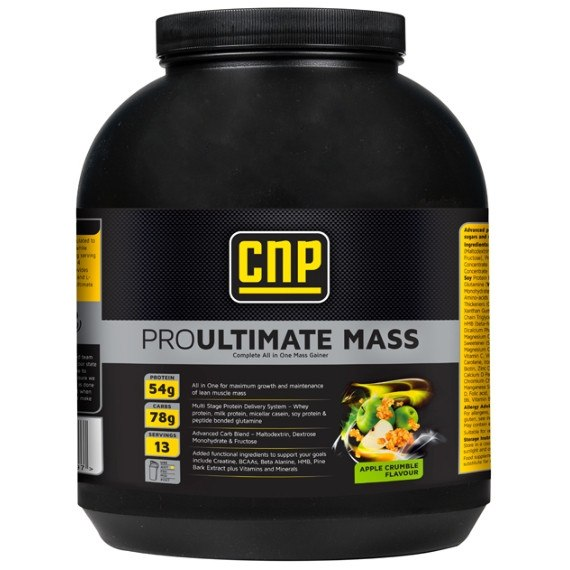 CNP Professional Pro Ultimate Mass 2kg / Apple Crumble Mass Gainers  www.nutri4u.co.uk - 1