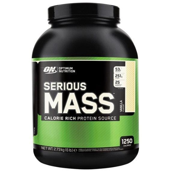 Optimum Nutrition Serious Mass 2.73kg (8 Servings) / Banana Mass Gainers  www.nutri4u.co.uk - 1